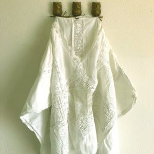 Free People Boho White Lace Tunic